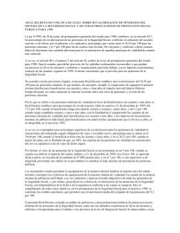 real decreto 863/1990, de 6 de julio, sobre revalorizacion de