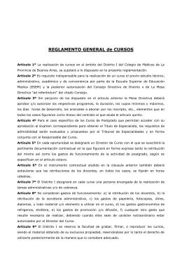 2) REGLAMENTO GRAL. DE CURSOS