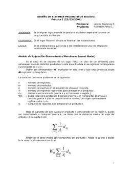DISEÑO DE SISTEMAS PRODUCTIVOS SecciónII