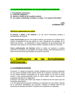 la calificación registral de los documentos notariales