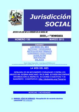 Revista de Jurisdicción Social número 130 del mes de Marzo