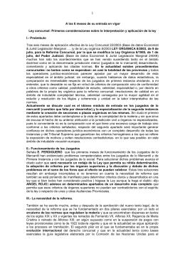Aplicación de la ley concursal: a los 6 meses de la entrada