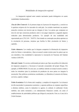 La asean y el mercosur similitudes diferencias y potencialidades modalidades de integracin regional facultad de derecho malvernweather Images