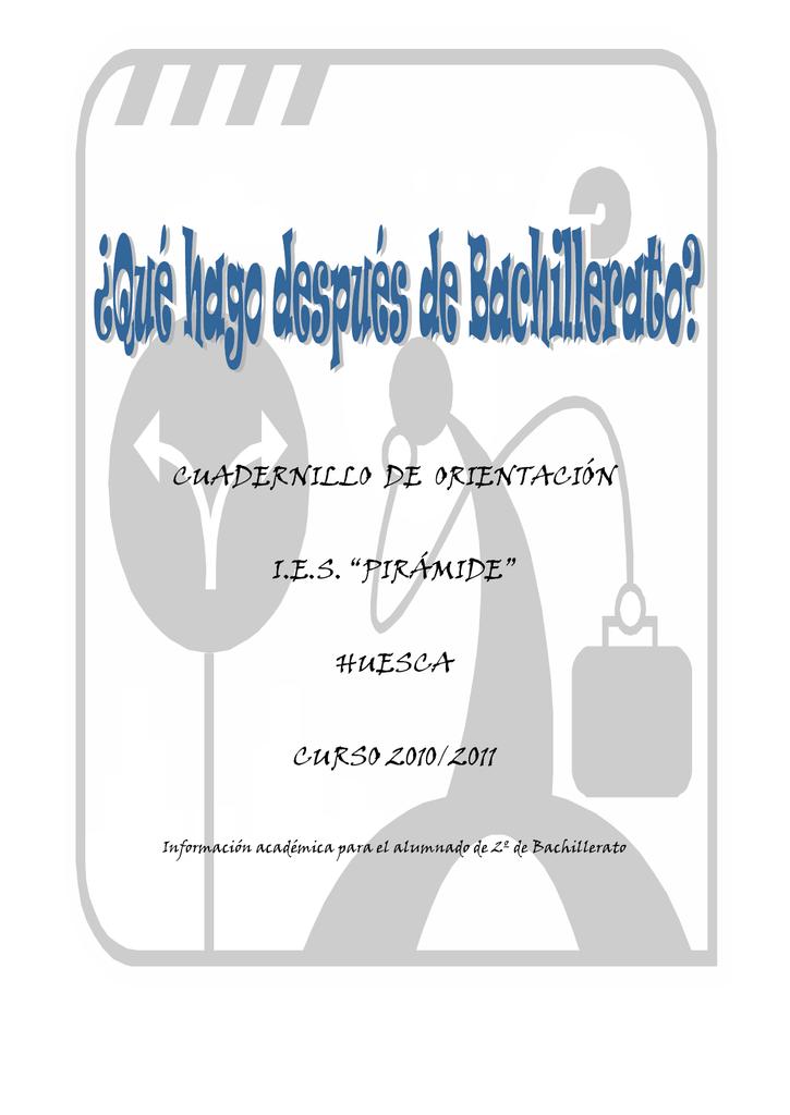 7 Cuadernillo 2º Bto Orientación Educativa De Huesca