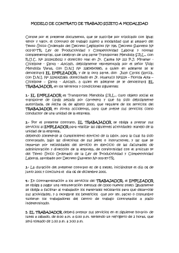 Modelos de contrato indefinido for Contrato indefinido ejemplo