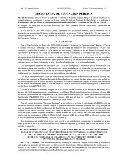 Martes 20 de noviembre de 2012 DIARIO OFICIAL (Primera Sección
