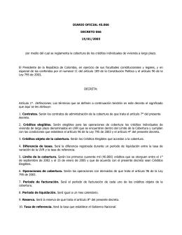DIARIO OFICIAL 45.066 DECRETO 066 15/01/2003
