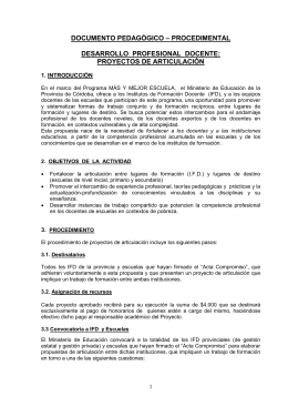 Documento pedagógico procedimental