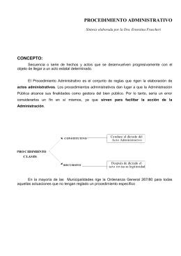 PROCEDIMIENTO ADMINISTRATIVO - Escuela de Abogados de la