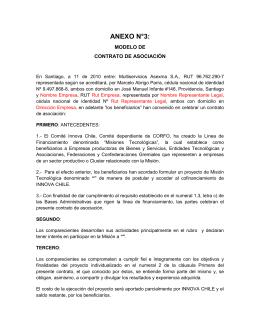 ANEXO N°3: MODELO DE CONTRATO DE ASOCIACIÓN