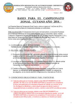 bases para el campeonato zonal cuyano