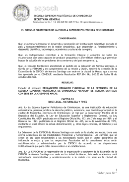 disposición general - Escuela Superior Politécnica de Chimborazo