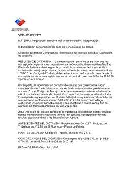 ORD. Nº 6991/349 - Dirección del Trabajo