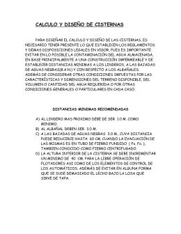 CALCULO Y DISEÑO DE CISTERNAS - Planos de Casas