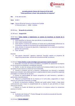 Orden del día - Cámara de Córdoba