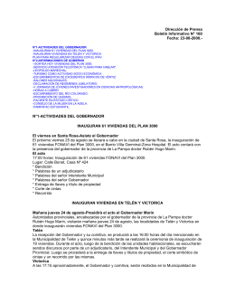 Boletín Informativo Nº 160