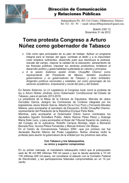 (Boletin 235) - Congreso del Estado de Tabasco