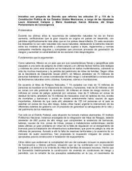 Iniciativa con proyecto de Decreto que reforma los artículos 27 y 115