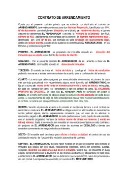 Modelo de contrato de arrendamiento de oficinas y bodegas - Contrato de arrendamiento de oficina ...