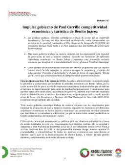 Impulsa gobierno de Paul Carrillo competitividad