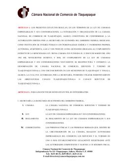 Estatutos de Camara Nacional de Comercio de Tlaquepaque