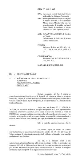 ORD. Nº 1658/82