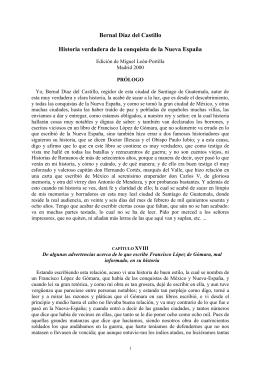 Bernal Díaz del Castillo, Historia verdadera de la conquista de la