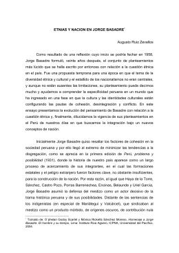 ETNIAS Y NACION EN JORGE BASADRE*