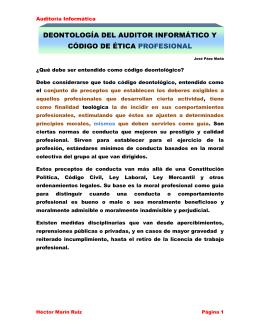 YMCAAI07102411Deontología del Auditor Informático y Código de
