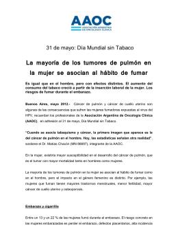 Día Mundial sin Tabaco - Asociación Argentina de Oncología Clínica