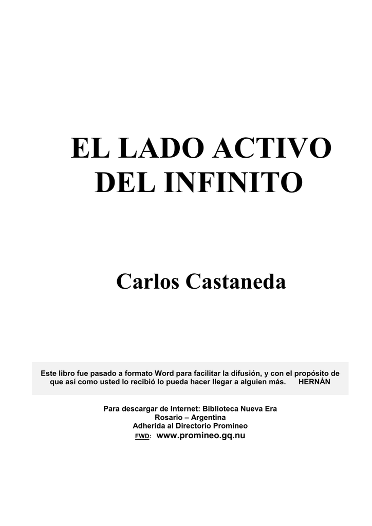 Castaneda, Carlos - El lado activo del infinito