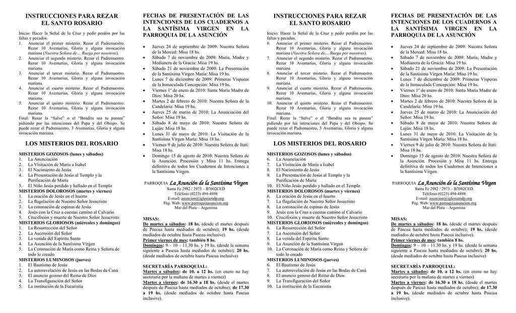 como rezar el rosario completo pdf