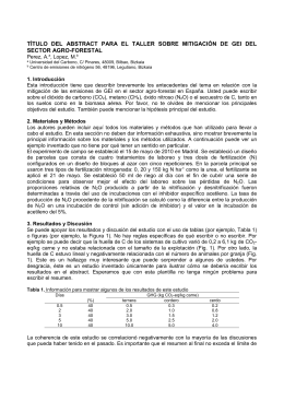 TÍTULO  DEL  ABSTRACT  PARA  EL ... SECTOR AGRO-FORESTAL