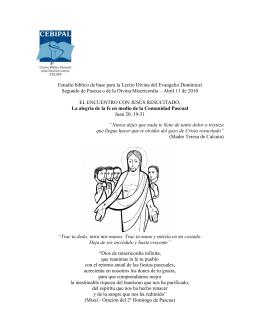 Segundo de Pascua o de la Divina Misericordia