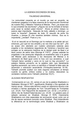 LA AGENDA ESCONDIDA DE BAAL