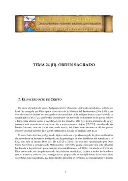 TEMA 24 (II) ORDEN SAGRADO