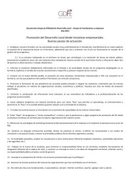 Documento 2 - GADL/ GDFE. Promoción del Desarrollo Local desde