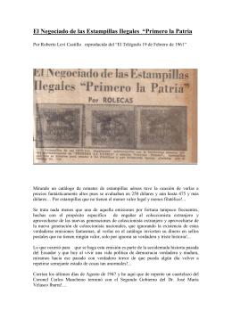 "La Estampilla ""75 Ctvs - Club Filatelico Guayaquil"
