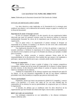 LAS ALIANZAS Y EL PAPEL DEL DIRECTIVO