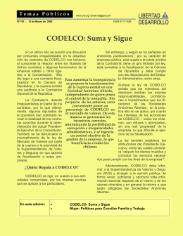 CODELCO: Suma y Sigue