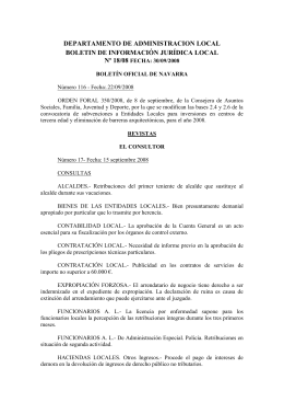 DEPARTAMENTO DE ADMINISTRACION LOCAL BOLETIN DE INFORMACIÓN JURÍDICA LOCAL Nº 18/08