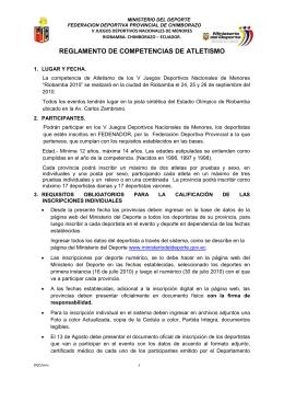 REGLAMENTO DE COMPETENCIAS DE ATLETISMO