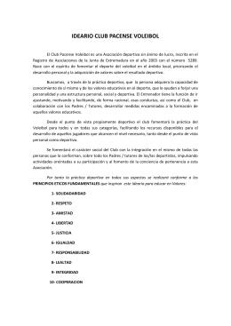 IDEARIO CLUB PACENSE VOLEIBOL