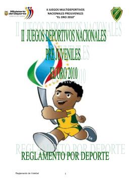 Voleibol - Ministerio del Deporte