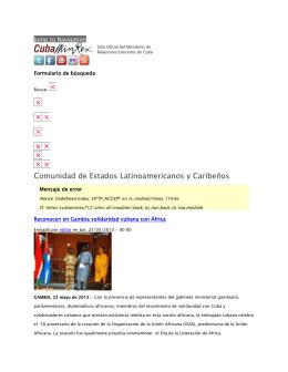 Comunidad de Estados Latinoamericanos y Caribeños Jump to Navigation  Formulario de búsqueda