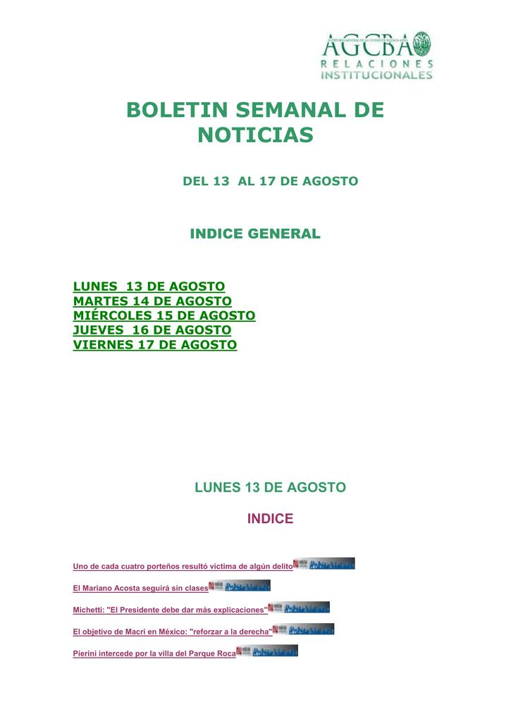 del 13 al 17 de agosto - Auditoría General de la Ciudad de Buenos