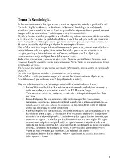 Tema 1: Semiología