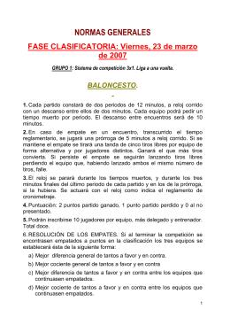 información de presentación del vi campeonato de españa senior