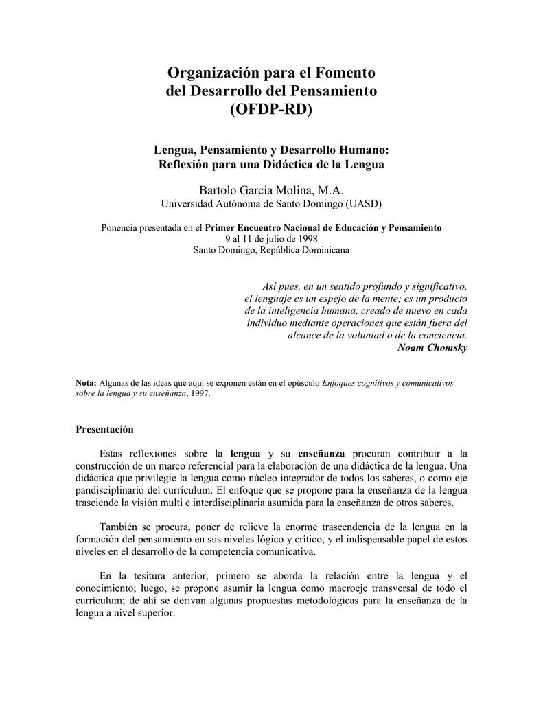 Didáctica de la Lengua - Organización para el Fomento del