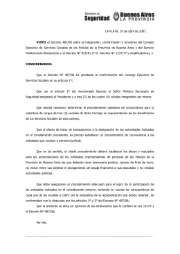Resolución 912/07 - Ministerio de Seguridad